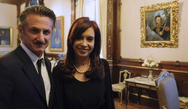 Sean Penn et Cristina Kirchner-
