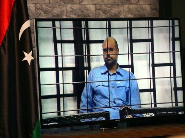 Lors de l'audience avec les juges le 6 juin 2014, le fils de Kadhafi Seïf El-Islam sera questionné par vidéo depuis sa cellule de Zintan