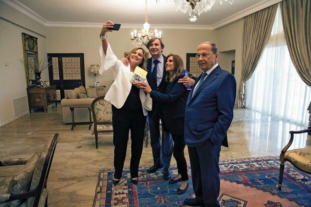Selfie avec Daniel Rondeau.
