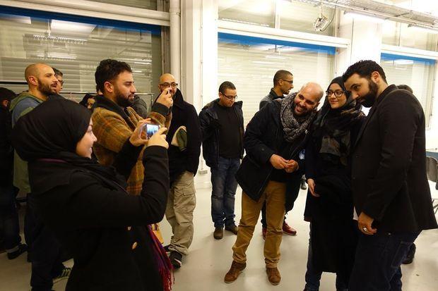 Yassine Belattar avec son public à la fin du show.