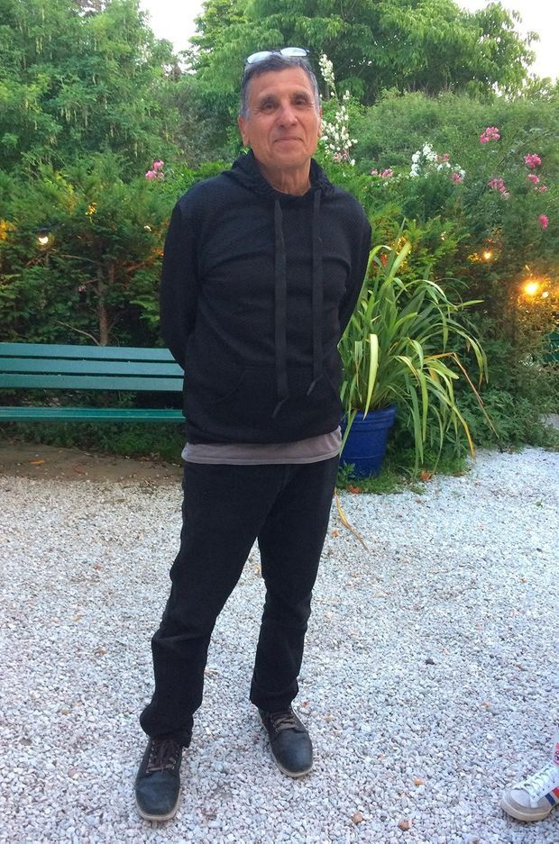 Serge Maggiani en civil après le spectacle.