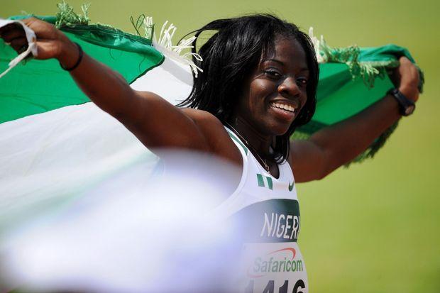 Seun Adigun lorsqu'elle était encore championne du 100 mètres haies.