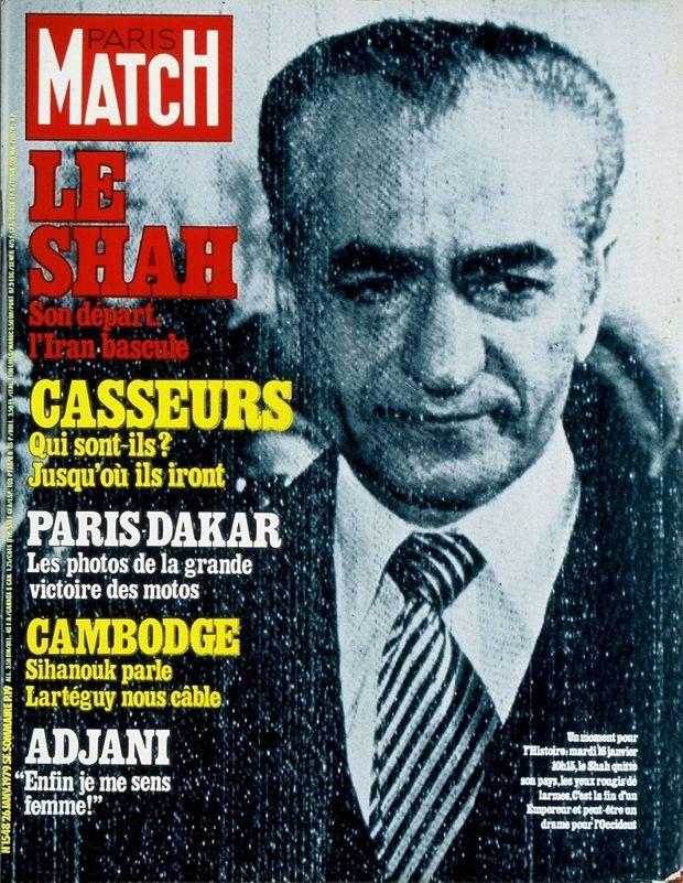 Le Shah en couverture de Paris Match n°1548, 26 janvier 1979
