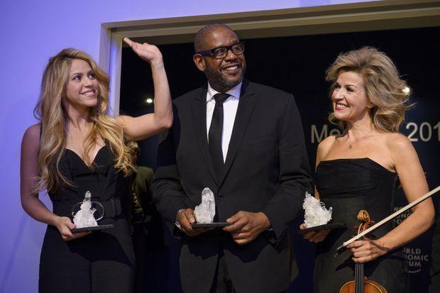 Shakira, Forest Whitaker et Anne-Sophie Mutter à Davos 16 janvier 2017 à Davos, le 16 janvier 2017