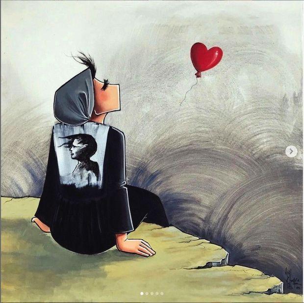 Une oeuvre murale de Shamsia Hassani.