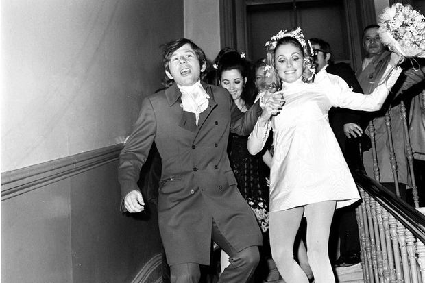 Roman Polanski et Sharon Tate, le jour de leur mariage, en 1968.
