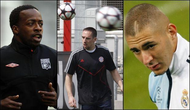 Sidney Govou Franck Ribery Karim Benzema-