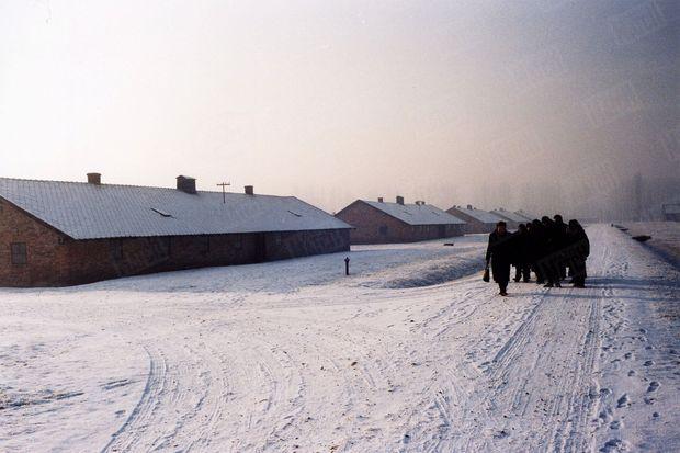 « Mercredi 22 décembre 2004, à Auschwitz-Birkenau. Plus de soixante ans après sa déportation, Simone Veil a du mal à reconnaître le camp. Elle découvre des chemins et des pelouses sous la neige, là où il n'y avait que de la boue et les corps des agonisants. » - Paris Match n°2904, 13 janvier 2005