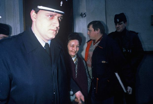 Arrestation de Madeleine Weber, le 16 janvier 1986.