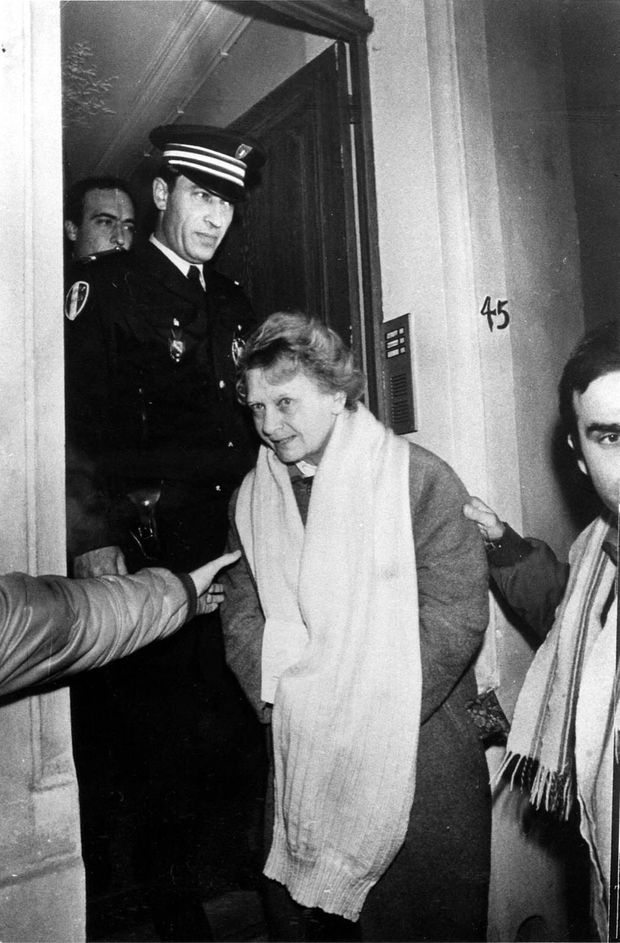 Arrestation de Simone Weber, le 16 janvier 1986.