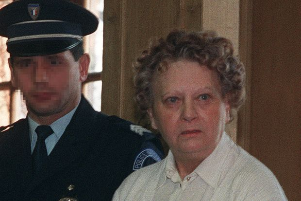 Simone Weber lors de son procès, en 1991 à Nancy.