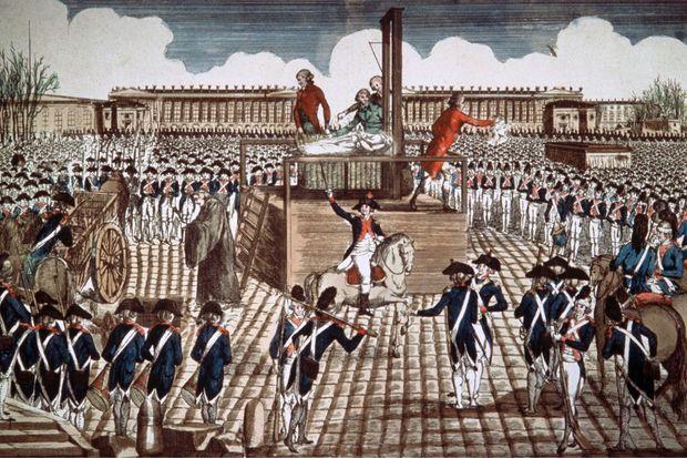 Gravure montrant l'exécution de la reine Marie-Antoinette