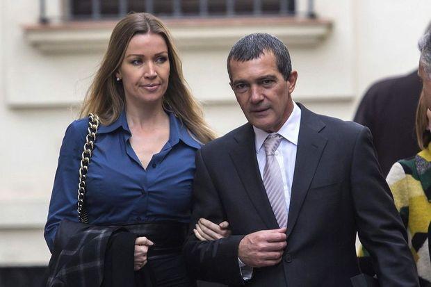 Antonio Banderas et sa nouvelle compagne, Nicole Kimpel, à Malaga le 29 décembre 2014