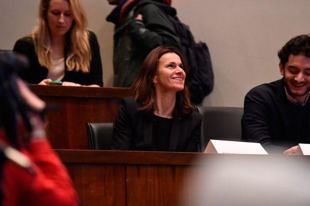 Aurélie Filippetti à Princeton, le 23 février.