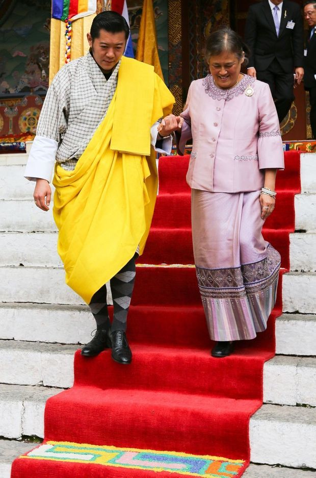 Le roi du Bhoutan Jigme Khesar Namgyel Wangchuck et la princesse Maha Chakri Sirindhorn de Thaïlande, le 24 mai 2016