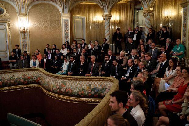 Inauguration du théâtre du château de Fontainebleau restauré, le 18 juin 2019