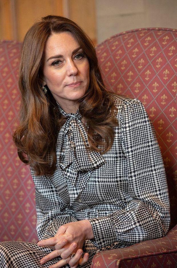 Kate portant la même robe Zara en janvier 2020 à Bradford