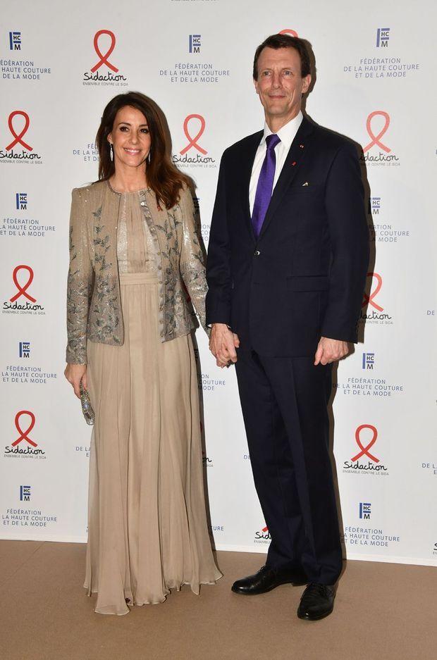 La princesse Marie et le prince Joachim de Danemark au Dîner de la mode du Sidaction à Paris, le 23 janvier 2020