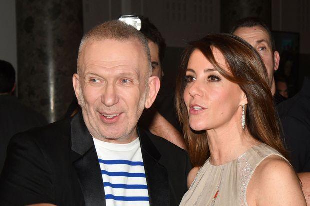La princesse Marie de Danemark avec Jean-Paul Gaultier au Dîner de la mode du Sidaction à Paris, le 23 janvier 2020