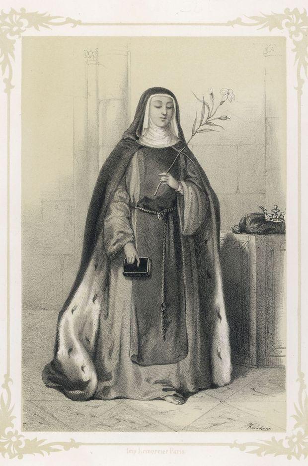 Gravure figurant Isabelle de France, sœur de Saint-Louis
