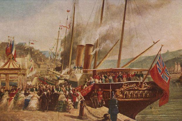 L'arrivée du yacht royal de la reine Victoria à Boulogne, le 18 août 1855