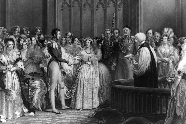 Le mariage de Victoria et Albert dans la chapelle du palais St James le 10 février 1840