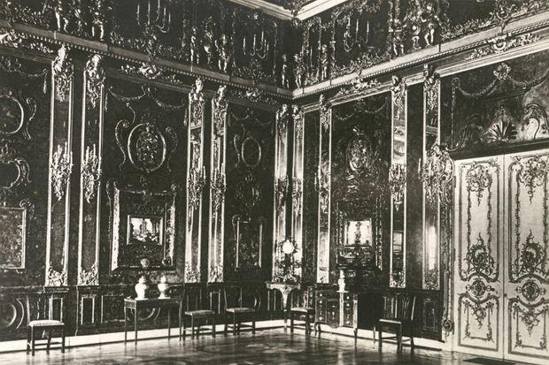 La Chambre d'ambre au palais Catherine à Pouchkine (anciennement Tsarskoïe Selo) dans les années 1930