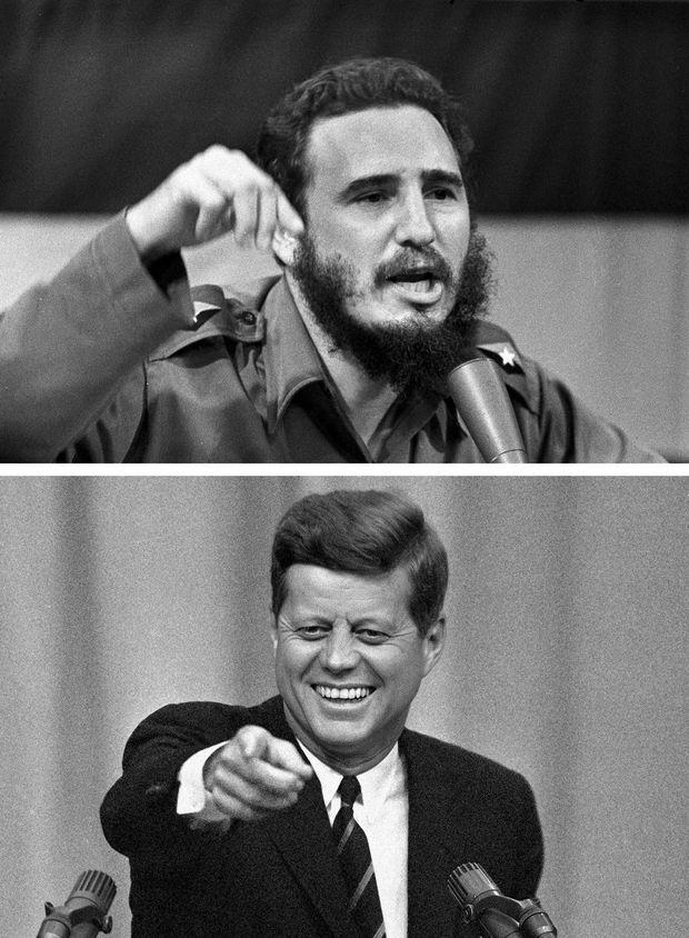 Fidel Castro et JFK.