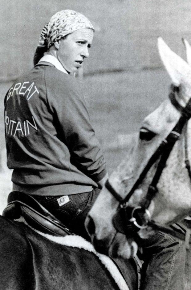 La princesse Anne à l'entraînement lors des JO de Montréal, le 16 juillet 1976