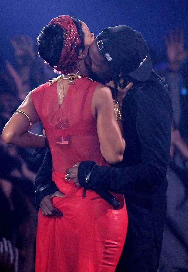Rihanna et ASAP Rocky aux MTV Video Music Awards en 2012