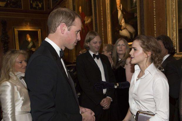 Emma Watson a bien rencontré le prince William lors d'un dîner au château de Windsor, mais c'était en mai 2014, avant sa rupture avec Matthew Janney