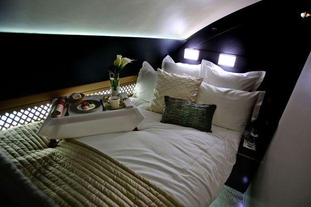 """Une photo du lit de la suite """"The Residence"""""""