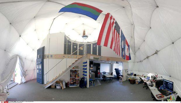 L'intérieur du dôme de 11 mètres de diamètre.