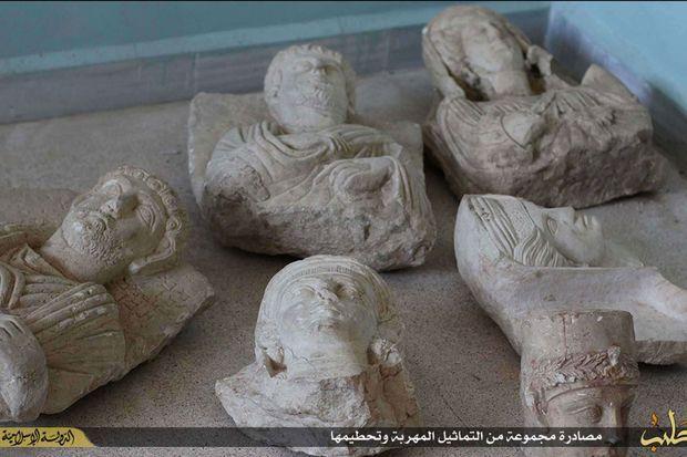 Les statues détruites par Daech.