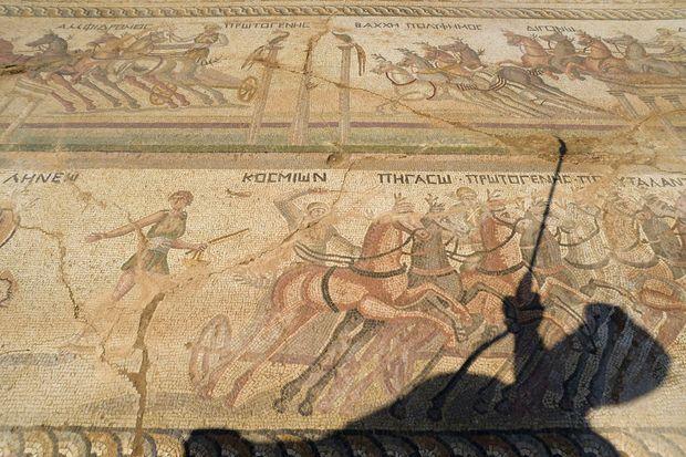 La mosaïque déterrée au sud de Nicosie