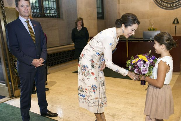 La princesse Mary et le prince Frederik de Danemark à Washington, le 28 septembre 2016