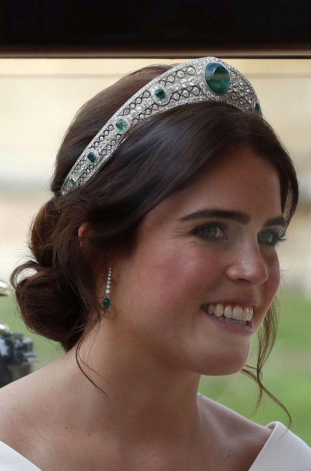 Le diadème porté par la princesse Eugenie d'York le jour de son mariage, le 12 octobre 2018