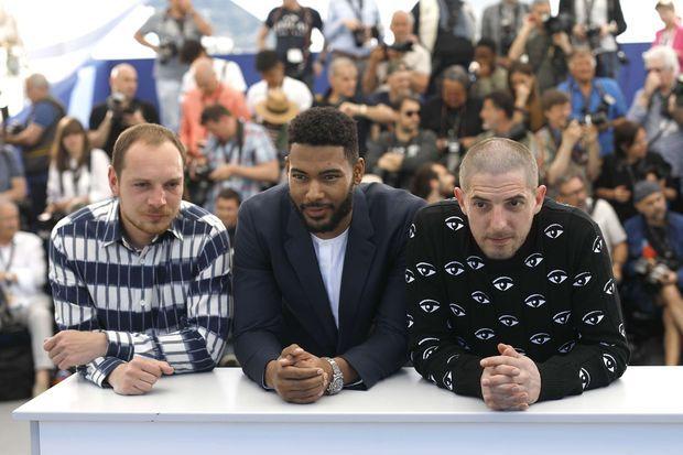 Alexis Manenti, Djebril Zonga et Damien Bonnard au Festival de Cannes en mai 2019