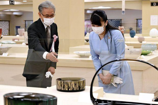La princesse Mako du Japon visite une exposition à Tokyo, le 16 septembre 2020