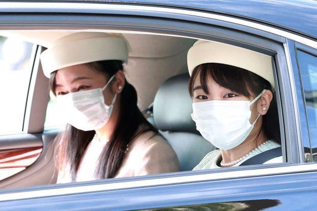 La princesse Mako du Japon se rendant avec sa sœur la princesse Kako au Palais impérial à Tokyo, le 22 septembre 2020 pour une cérémonie rituelle