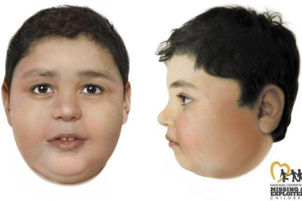 Une image du petit garçon, créée par ordinateur après qu'il a été découvert dans le désert en mai.