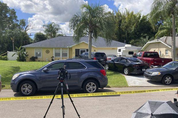 Le domicile des Laundrie, en Floride, perquisitionné lundi.