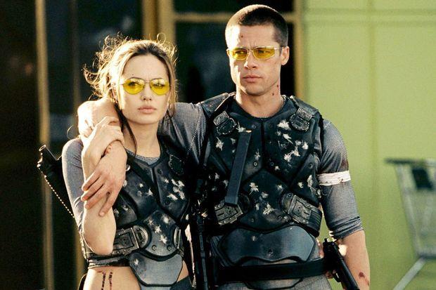 """Angelina Jolie et Brad Pitt dans """"Mr. & Mrs. Smith"""", sorti en 2005"""