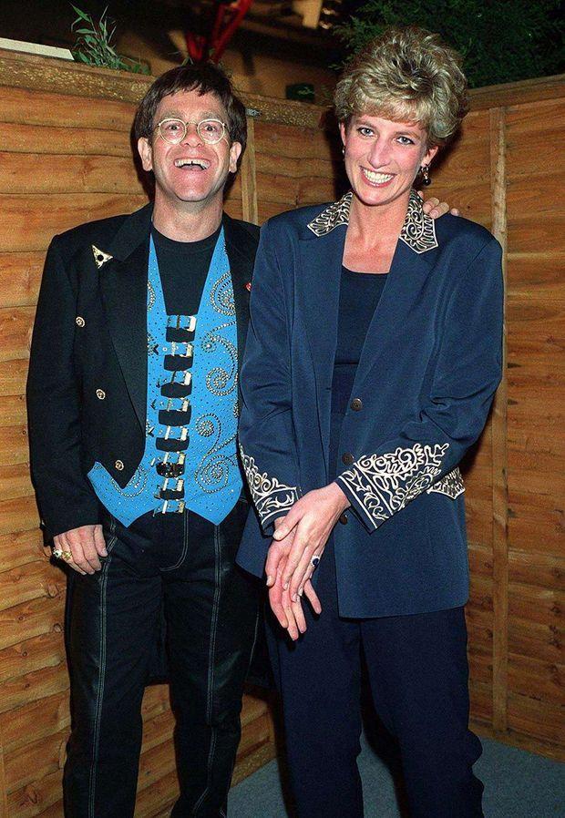 Elton John et Lady Di en 1993