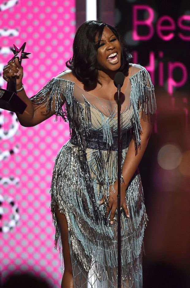 Remy Ma lors des BET Awards 2017.