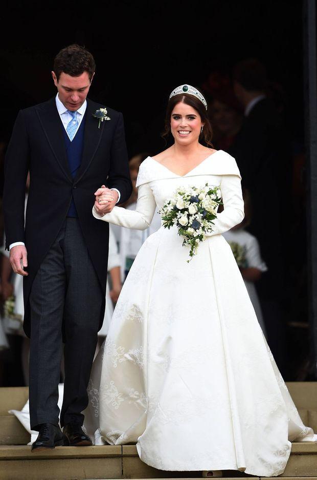 La princesse Eugenie d'York le jour de son mariage avec Jack Brooksbank, le 12 octobre 2018