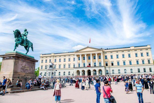 Le Palais royal à Oslo le jour de la Fête nationale, le 17 mai 2019
