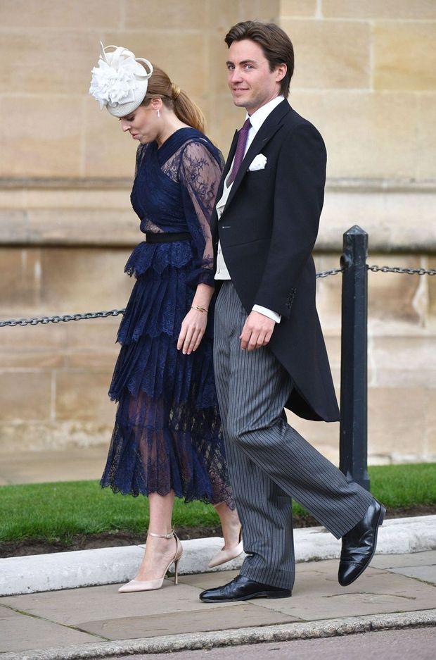 La princesse Beatrice d'York et Edoardo Mapelli Mozzi à Windsor, le 18 mai 2019