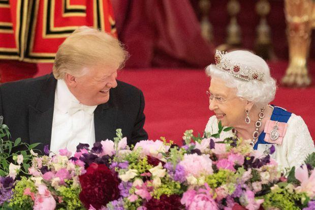 La reine Elizabeth II et Donald Trump à Londres, le 3 juin 2019