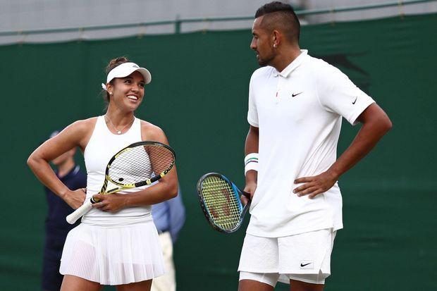 Desirae Krawczyk et Nick Kyrgios, le 5 juillet 2019 à Wimbledon.
